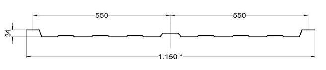 panel translúcido poliéster 3 grecas