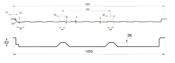 panel translúcido poliéster 2 grecas