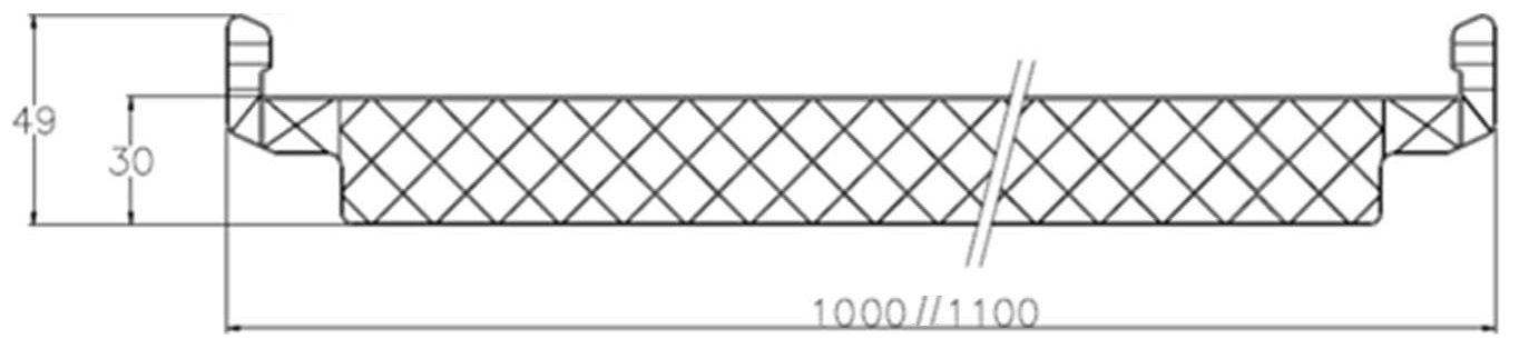 poligon perfil dimensiones